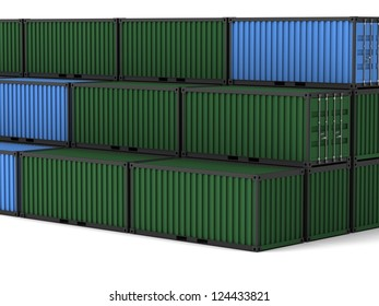 Cargo container on a white background.