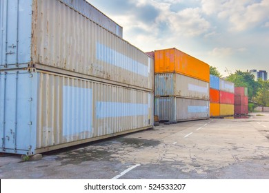 Cargo Container, Shipping Port