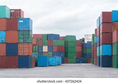 Cargo container yard
