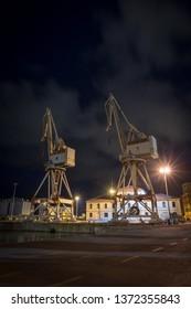 Cargo cranes at the Port of Imperia, Italy