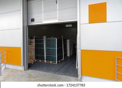 Cargo Door at Distribution Warehouse Loading Dock