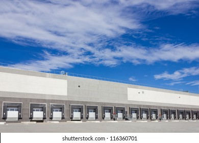 cargo doors at big warehouse