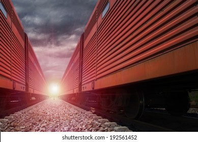 cargo freight train locomotive traveling through mountain