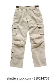 cargo pants isolated on white
