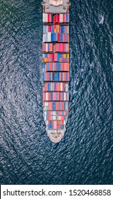 Cargo ship or container ship to import and export products worldwide
