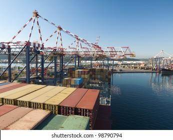 Cargo ship, Durban / South African ports