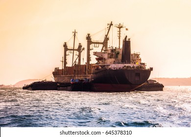 Cargo ship in eastern seaboard of Thailand