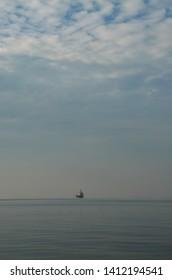 Cargo ship in Thermaic gulf at Thessaloniki,Greece