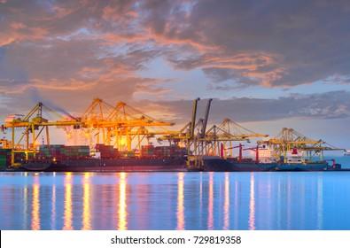 Cargo ship at the Trade Port