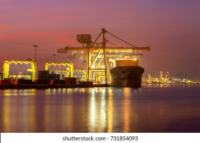 Cargo shipping in import export and business logistic.