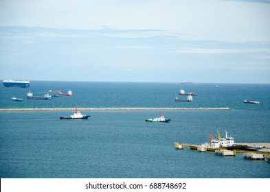 cargo ships at the port