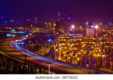 Cargo terminal in Hong Kong
