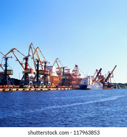 Cargo terminal of Ventspils, Larvia. Wide view