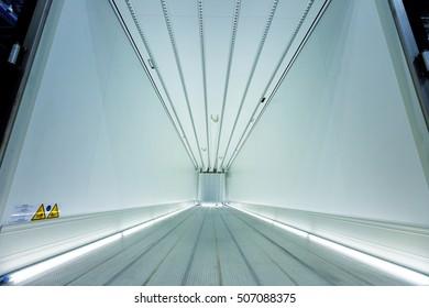 Cargo Trailer inside illuminated