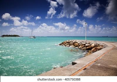 Caribbean beach - Guadeloupe, Lesser Antilles: