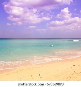 Caribbean beach landscape in Cuba - Playas del Este near Havana.