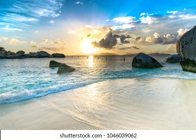 Caribbean Beach at Sunset