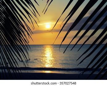 Caribbean Beach Sunset