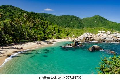 Caribbean beach in Tayrona National Park, Colombia