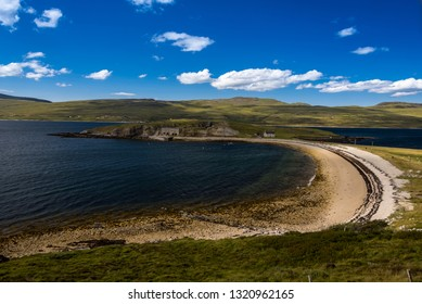 Caribbean beaches at Lochinver, Sutherland, Highlands Scotland