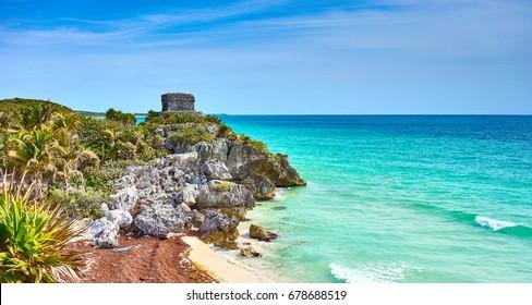 Caribbean coast of Mexico / Ruins of Tulum / Quintana Roo - Cancun - Riviera Maya