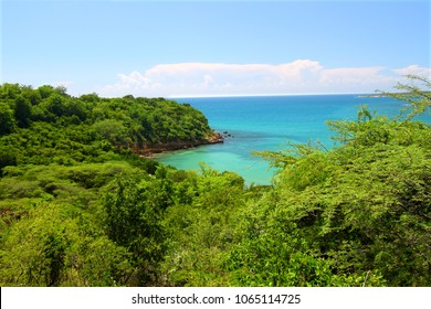 The Caribbean coastline at Guanica Dry Forest Reserve Puerto Rico