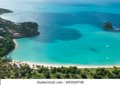 The Caribbean Island Antigua, view from above