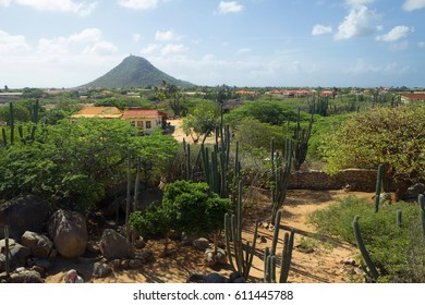 The Caribbean. The Island Of Aruba. The Mountain Of The Yamanote Line. The Yamanote line is a mountain on the southern coast of the island of Aruba, one of the most picturesque and interesting Islands