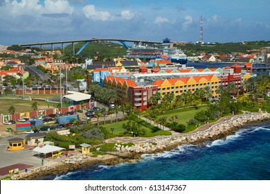 The Caribbean. The Island Of Curacao. Curacao is a tropical Paradise in the Antilles in the Caribbean sea with beautiful architecture, beaches.