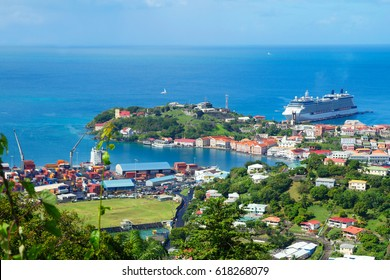 Caribbean. The Island Of Grenada. Grenada is a country and an island located in the southern part of the Antilles, and bordered on the East by the Atlantic ocean. It is an island of volcanic origin.