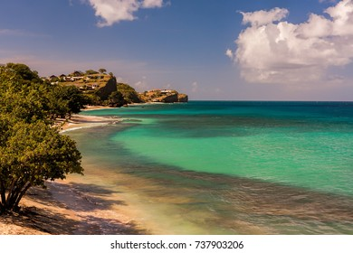 Caribbean. The Island Of Grenada. Grenada is a country and an island located in the southern part of the Antilles, Beautiful View Of Grand Anse In Grenada