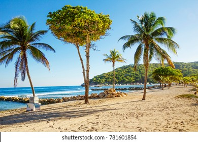 The Caribbean. The Island Of Haiti. The beaches of Haiti are some of the very best throughout the world map. It's exotic nature, amazing beauty of coral reefs, hundreds of kilometers of white beaches.