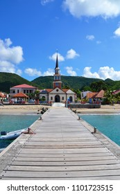 Caribbean island of Martinique, view from the pier to the little town of Les Anses-d'Arlet