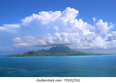 Caribbean island Nevis from Saint Kitts