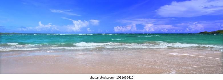 Caribbean Island Saint Lucia Beach Panoramic