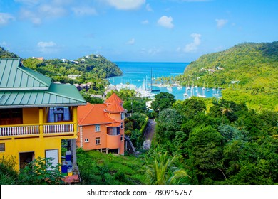The Caribbean. The Island Of St Lucia. St. Lucia is considered the most beautiful island in the Caribbean sea. On the island the best beaches in the Caribbean.