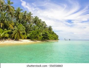 Caribbean islands in Panama. Zapatilla. Bocas Del Toro