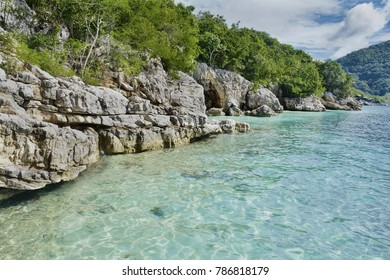 Caribbean landscape abstract background