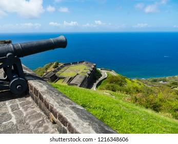 Caribbean, Lesser Antilles, St. Kitts and Nevis, Basseterre, Brimstone Hill Fortress, Festung Schwefelberg, UNESCO World Heritage Site,