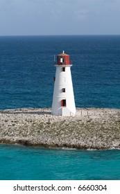 A Caribbean Lighthouse at Nassau Bahamas