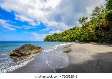 Caribbean Martinique wild beach