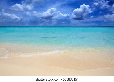 Caribbean sea and blue sky.