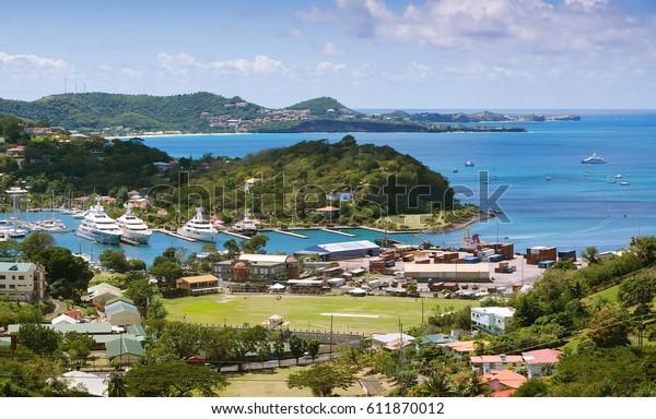 Caribbean sea - Grenada island - Saint George's - Inner harbor and Devils bay
