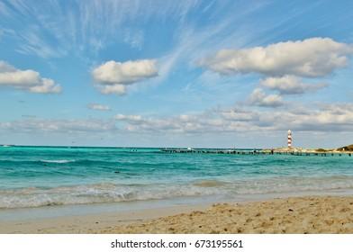Caribbean sea, lighthouse