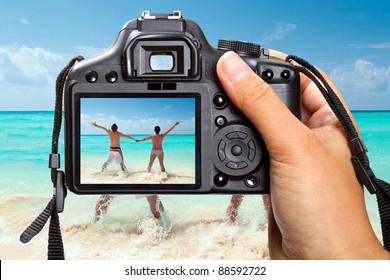 Caribbean Sea vacations with DSLR camera