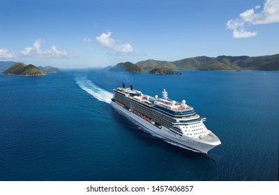 Caribbean Sea/Atlantic Ocean- 06/25/2019  aerial photo of Cruise ship