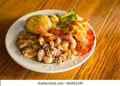 Caribbean Seafood Platter