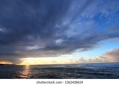 Caribbean sunset on the west coast of Puerto Rico