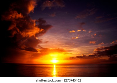 Caribbean Sunset, Roseau, Dominica, West Indies