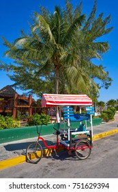 Caribbean tricycle shop bicycle of Mexico